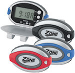 Oval Clip On Pedometers With Clock